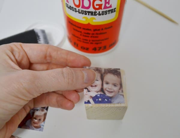 mod podged photo holder