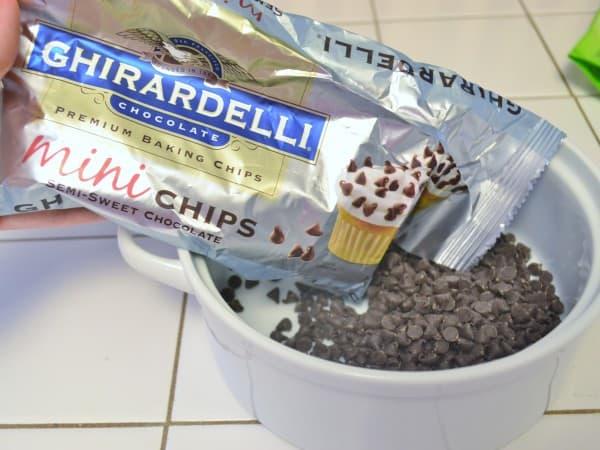 melting chocolate chips