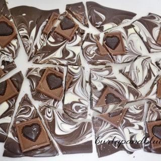 ghirardelli valentine's bark + free printable
