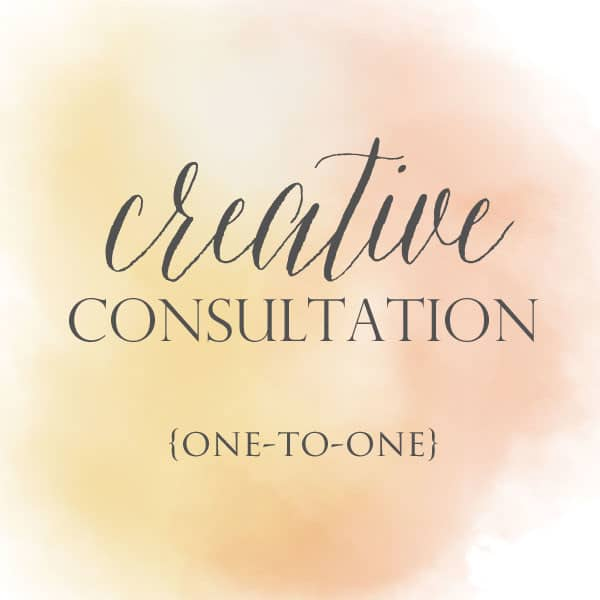 creative consultation 600x600 creative consultation {one to one}