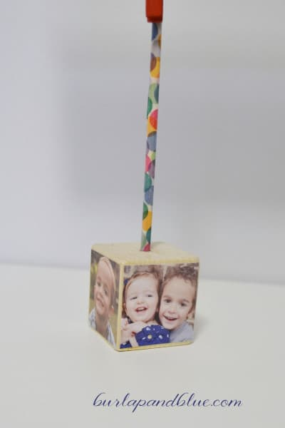 cube photo holder diy