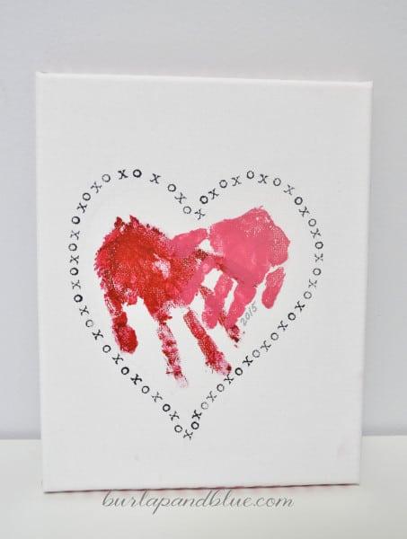 handprint heart valentine 453x600 handprint heart valentine
