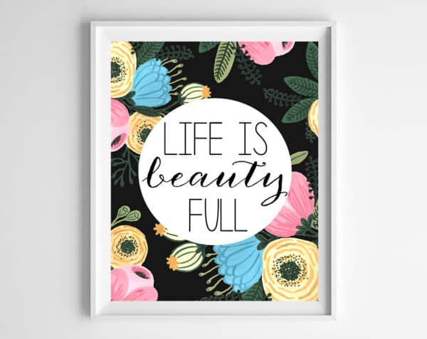 life is beauty full 600x477 new in shop!