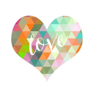 geometric heart {free printable}