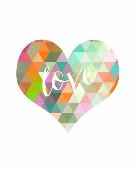 love art 480x600 geometric heart {free printable}
