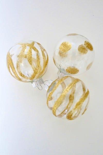 glitter ornaments diy 1