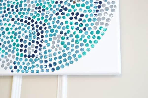 Make Polka Dot Canvases