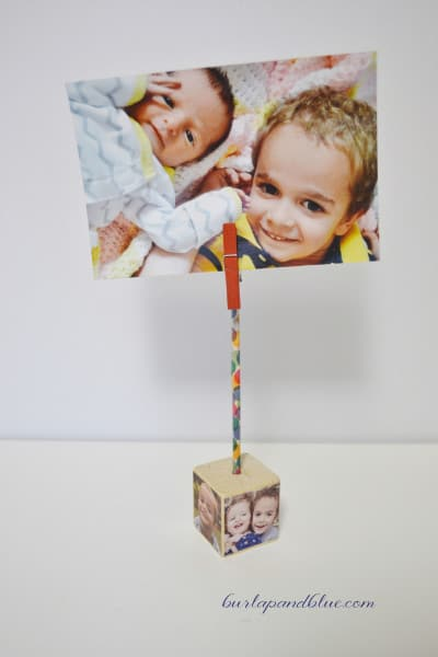 cube photo holder diy 2