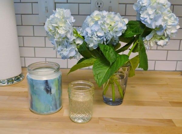how to mod podge a vase
