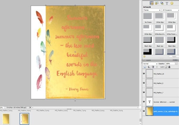 how to get gold foil photoshop