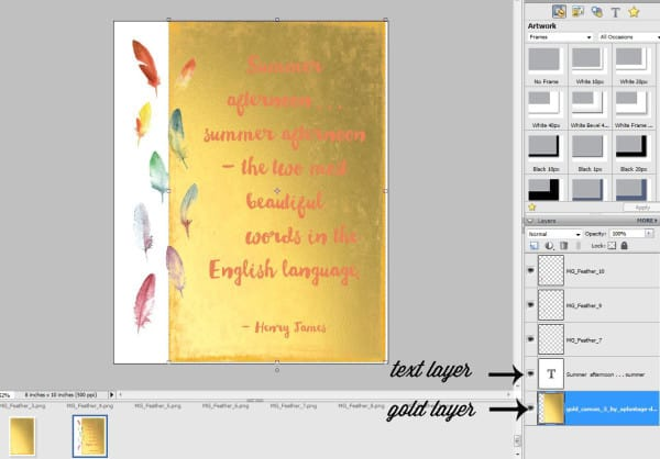 gold foil in photoshop