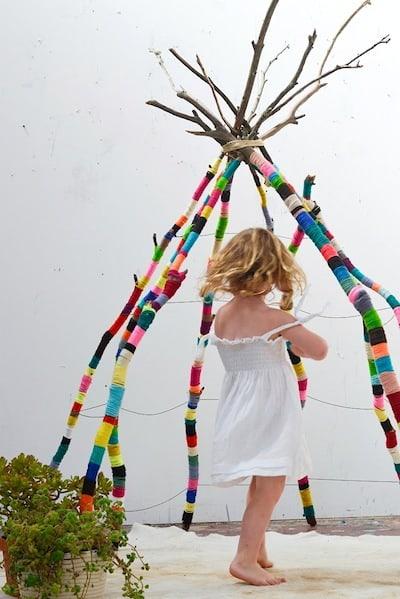 yarn teepee