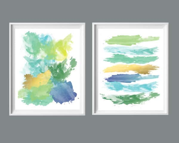 2 abstracts etsy