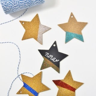 Glittered Place Cards {a tutorial}