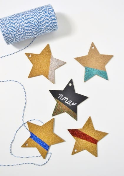 glittered place cards 2