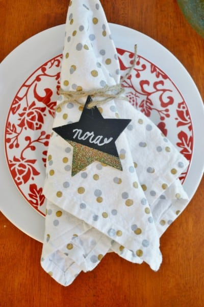glittered place cards 1