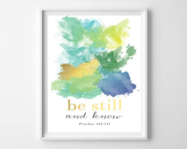 be still and know frame