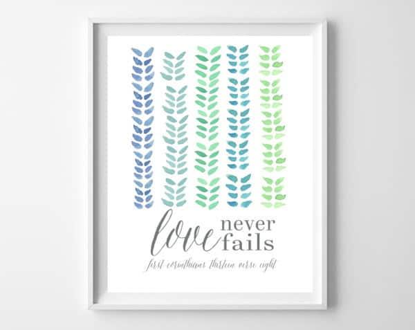 love never fails frame