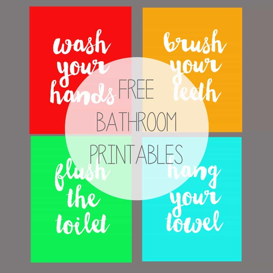 Free Printable Kids' Bathroom Art