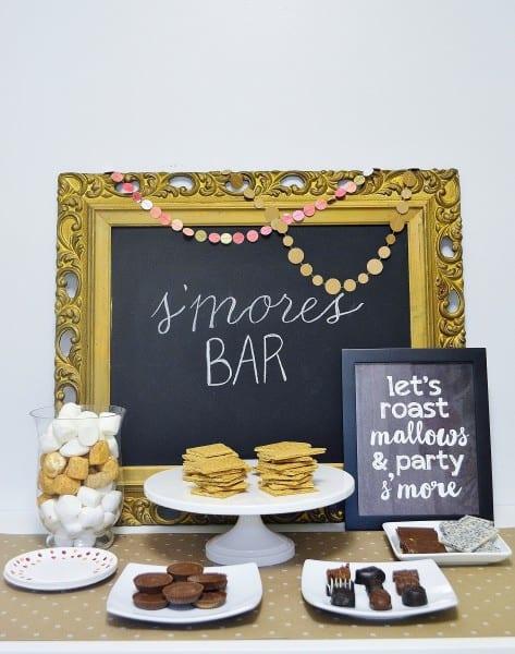 s'mores bar