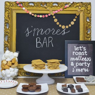 s'mores bar + free printable
