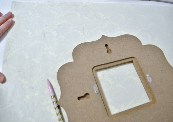 decoupage wood frame 4