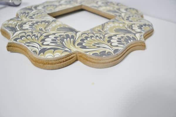 decoupage wood frame 6