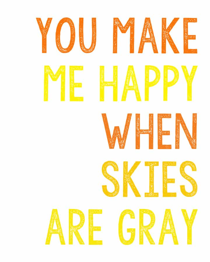 Remarkable image with regard to you are my sunshine free printable