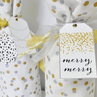 napkin wine bag + free printable gift tags