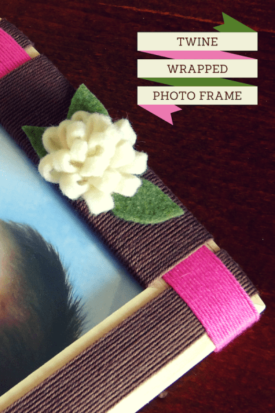 Twine Wrapped Photo Frame Title