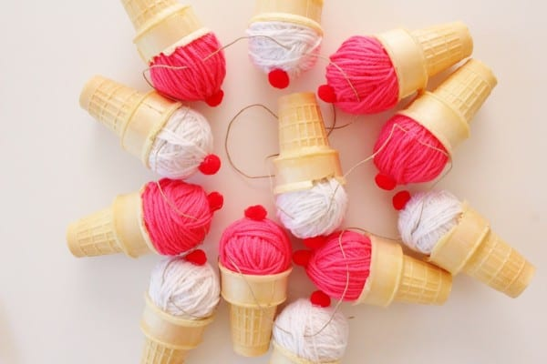diy ice cream cone garland (7)