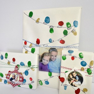 personalized gift ideas + holiday lights gift wrap tutorial with Walmart Photo
