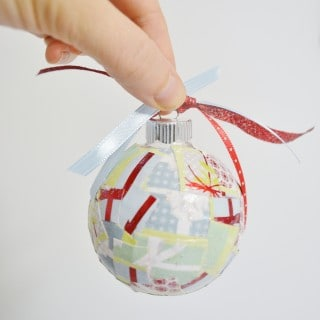 simple decoupage christmas ornaments {a tutorial}