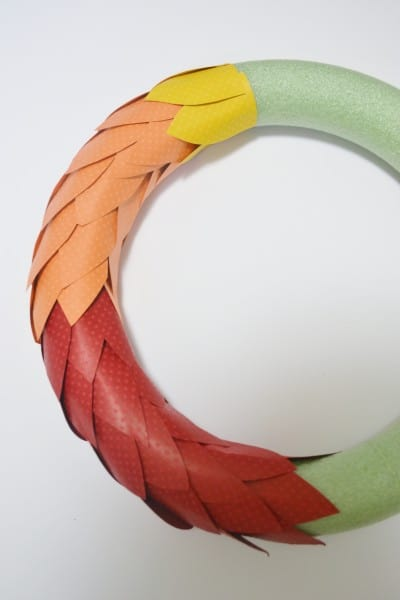 paper wreath fall