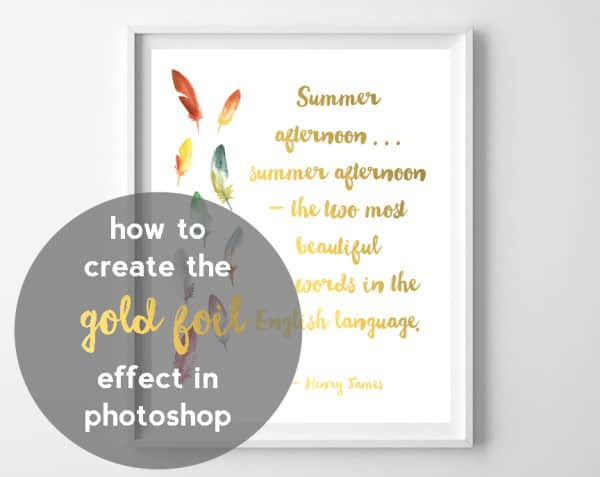how to make goil foil in photoshop