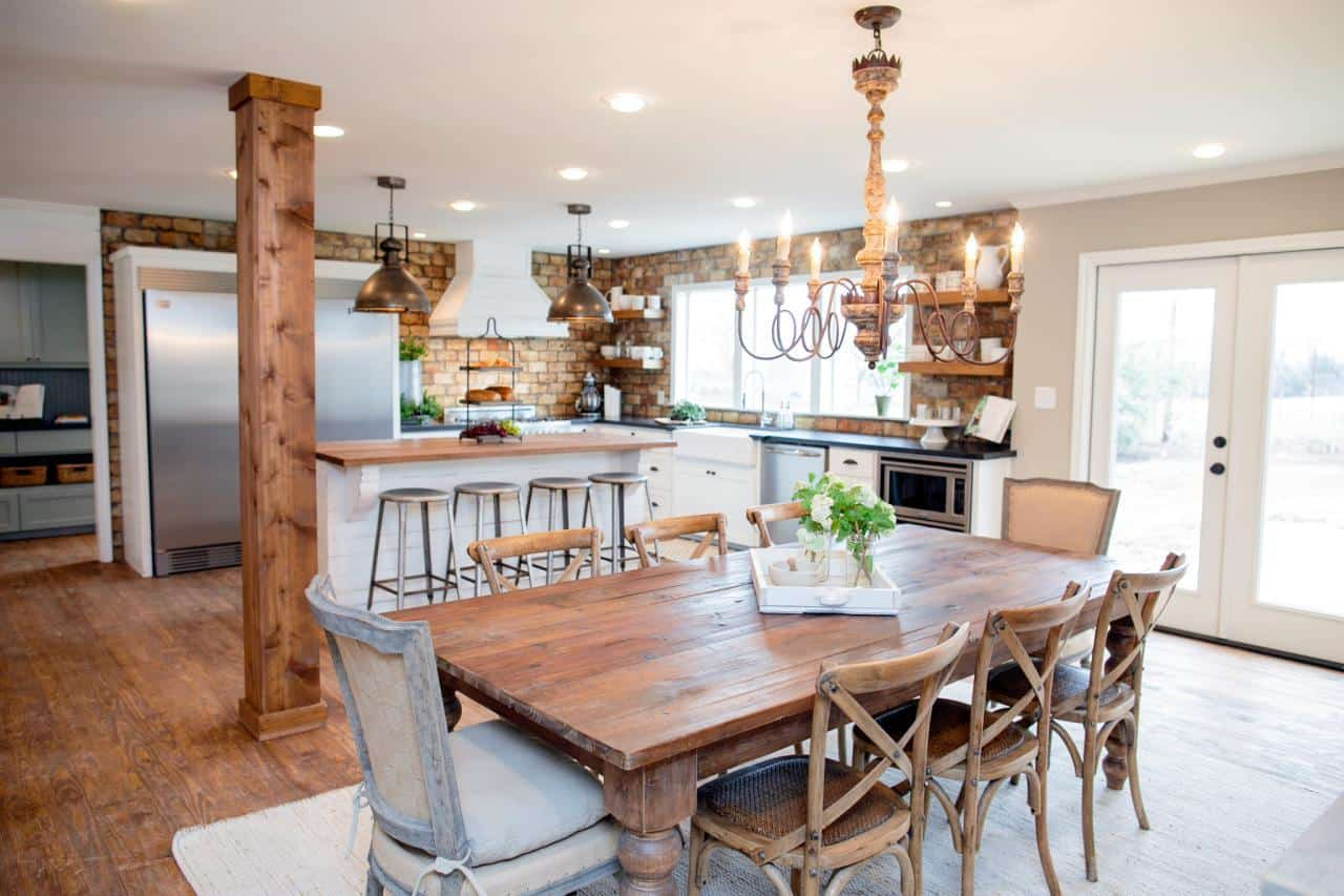 Fixer upper kitchens living and dining rooms 21 favorites Kitchen table in living room