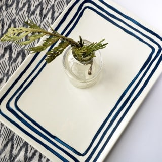 anthropologie-inspired painted plate DIY {a tutorial}