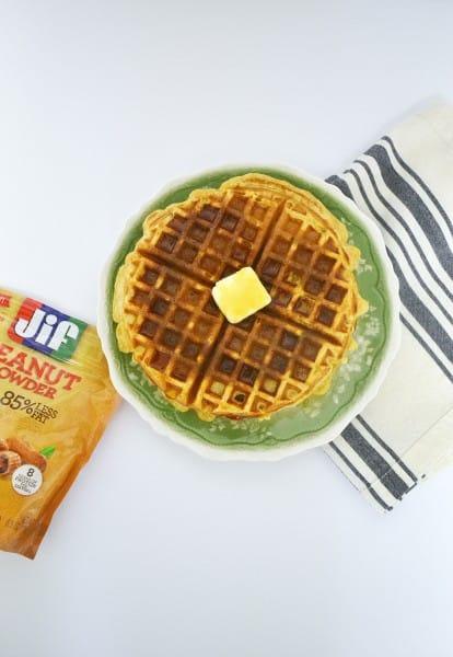 peanut powder waffles