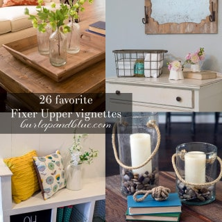 26 favorite fixer upper vignettes + tablescapes