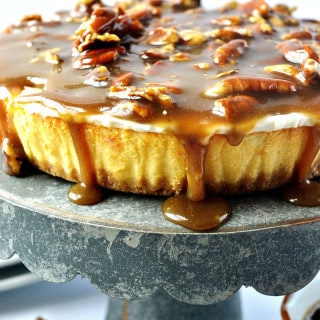 pecan praline cheesecake topping {a recipe}