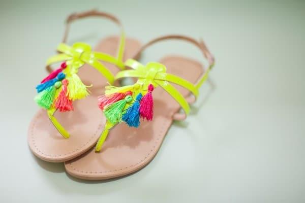 tassel sandals diy