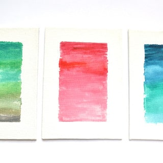 watercolor canvas art {a tutorial}