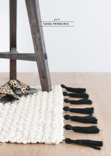 tassel projects burlap and blue