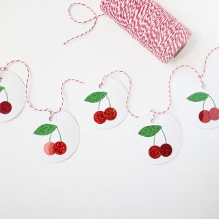 cherry decor {easy spring cherry garland}