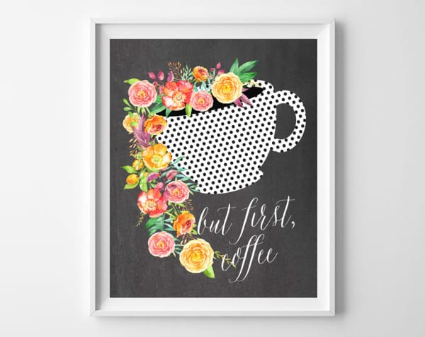 but first coffee frame