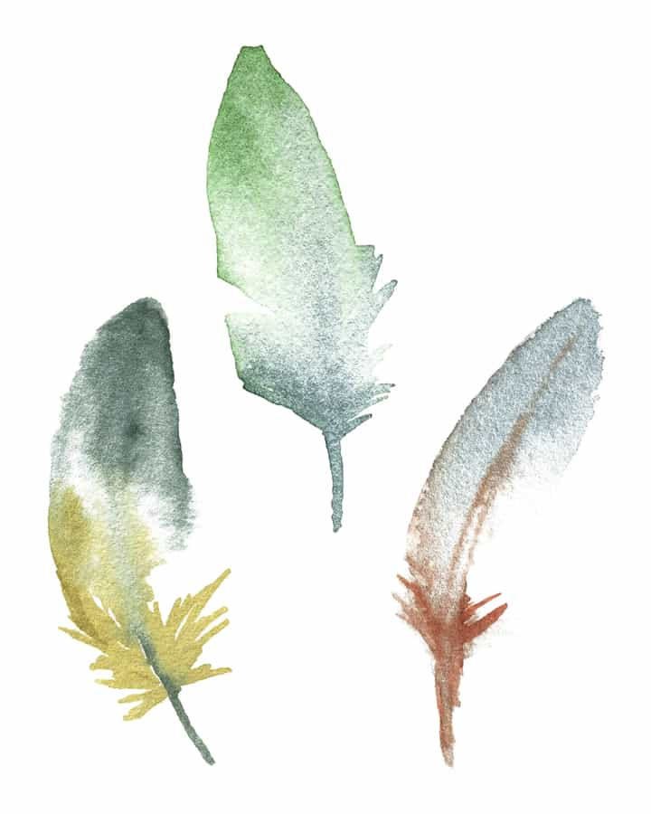 Printable Feather Art