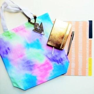 watercolor tote bag {a tutorial}