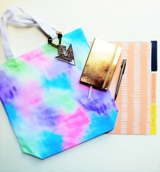 watercolor tote