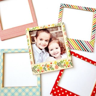washi tape frames {a tutorial}