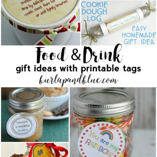 food & drink gifts {with free printable tags}